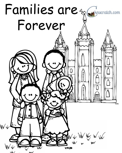 Families are forever! Love this coloring page!