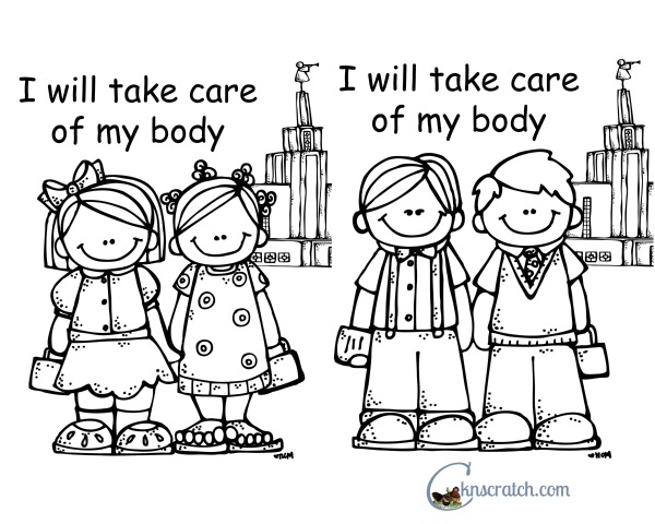 Lds Coloring Pages I Have A Body