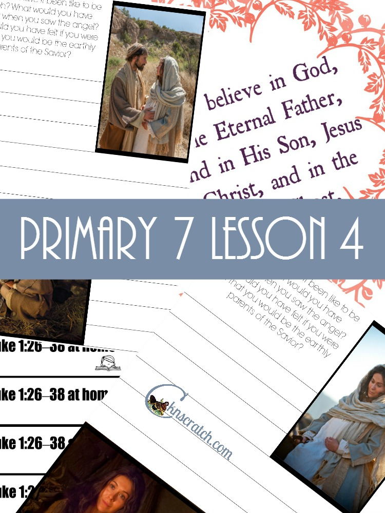 Love the Journal handout on this one! Great helps for teaching LDS Primary 7 Lesson 4: Jesus Christ is the Son of Heavenly Father
