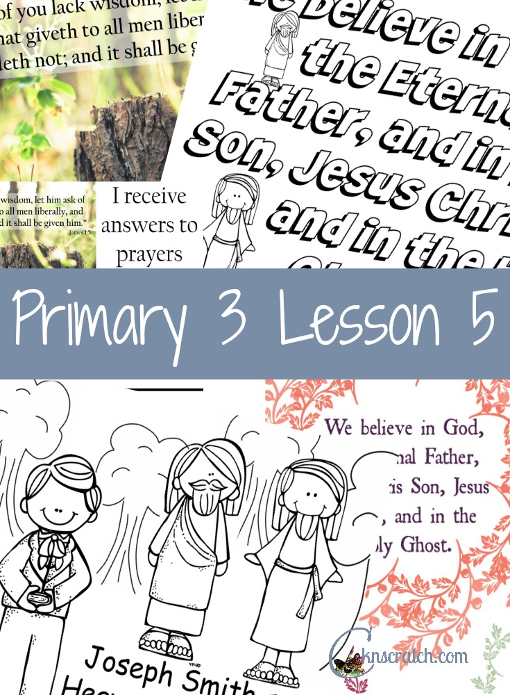Wow! Lots of great LDS Lesson handouts for Primary 3 Lesson 5: The First Vision