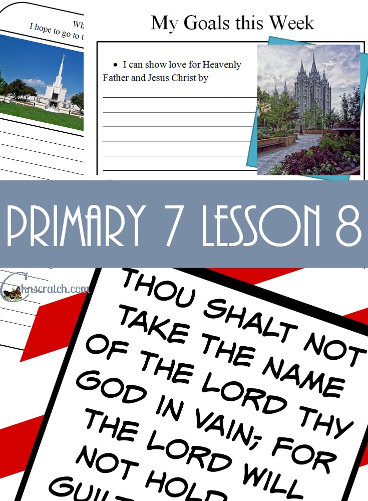 Great lesson ideas and handouts for Primary 7 Lesson 8: Jesus Christ Cleanses the Temple