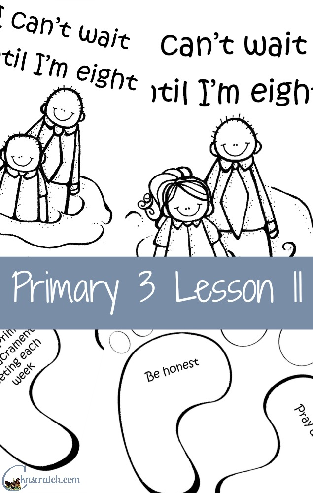 Great lesson helps and handouts for Primary 3 Lesson 11: Baptism