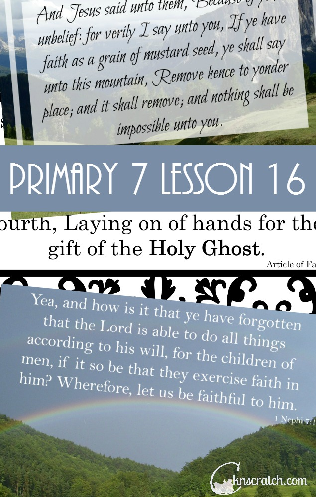 Lesson helps and handouts for Primary 7 Lesson 16: Jesus Christ Performed Miracles