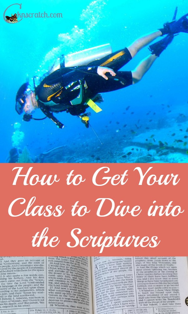 Great tips on getting everyone to crack open their scriptures- it can be so hard sometimes!