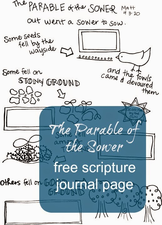 The Parable of the Sower Journal Page from A Lively Hope
