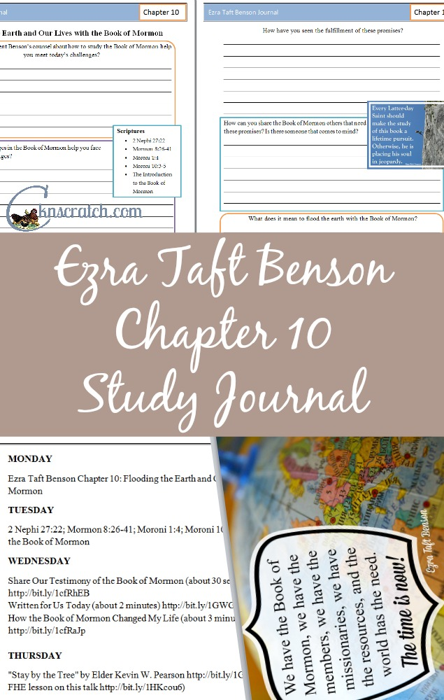 This Ezra Taft Benson Chapter 10 Study Journal really helps me organize my thoughts and makes planning my lessons easier.