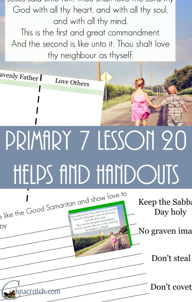 This site is so useful- LDS Lesson helps for Primary 7 Lesson 20: Parable of the Good Samaritan