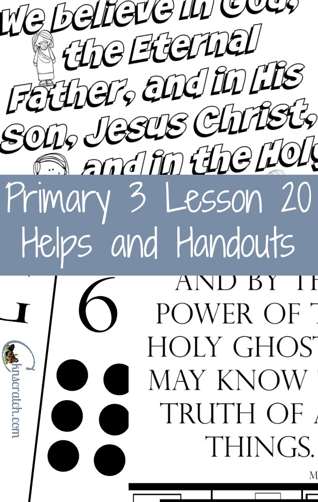 Love these LDS Primary helps for Primary 3 Lesson 20: The Holy Ghost Helps Us Know the Truth