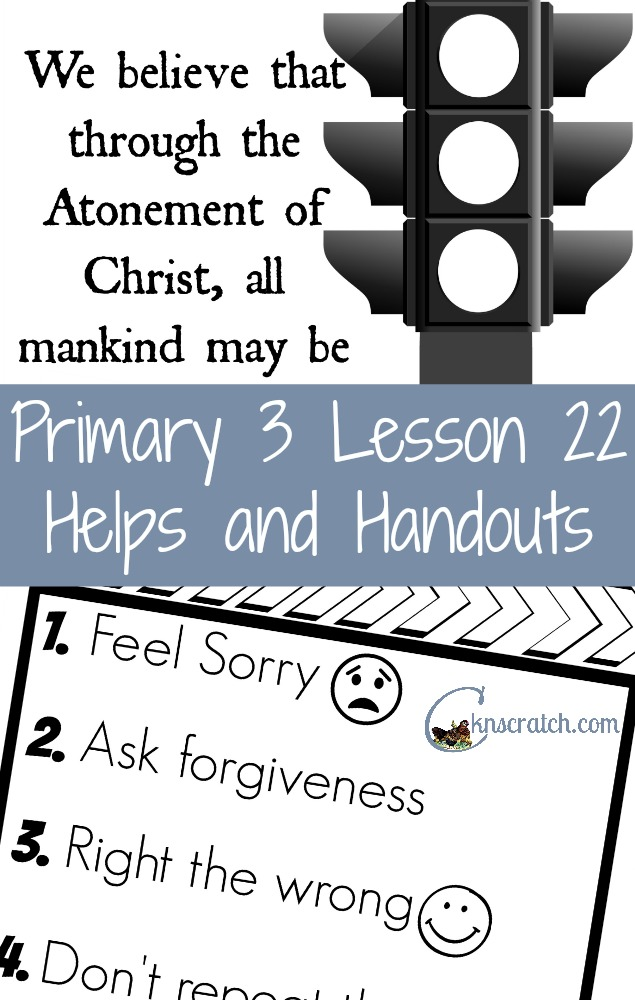 Love having all these resources in one place! LDS Primary 3 Lesson 22: The Atonement of Jesus Christ