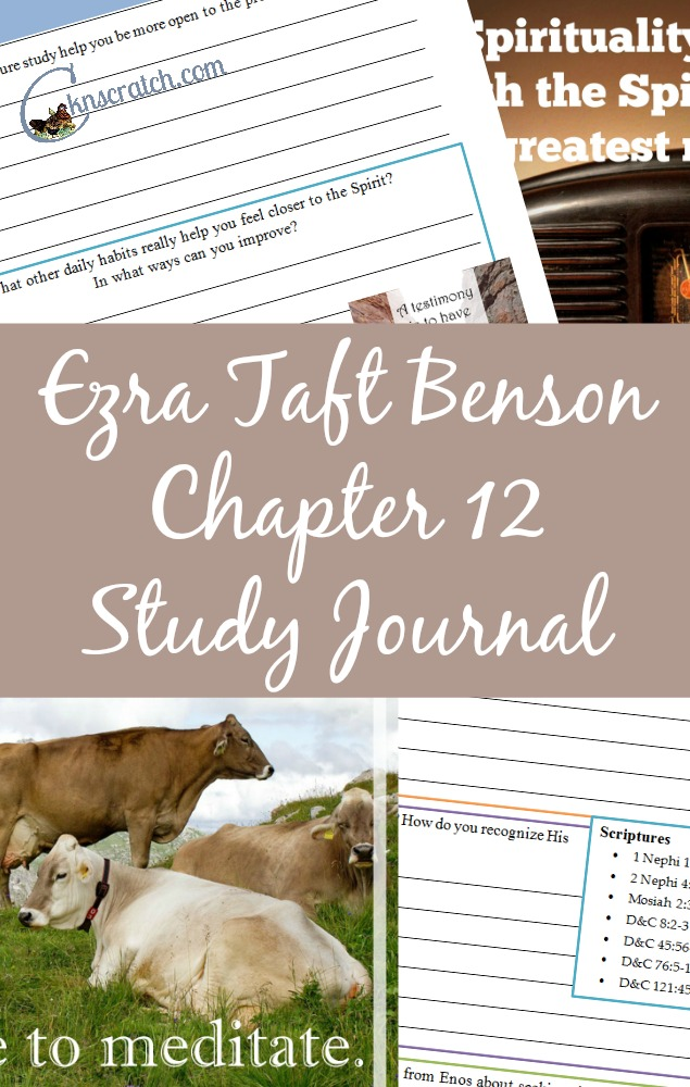 Ezra Taft Benson Chapter 12 Study Journal and Guide