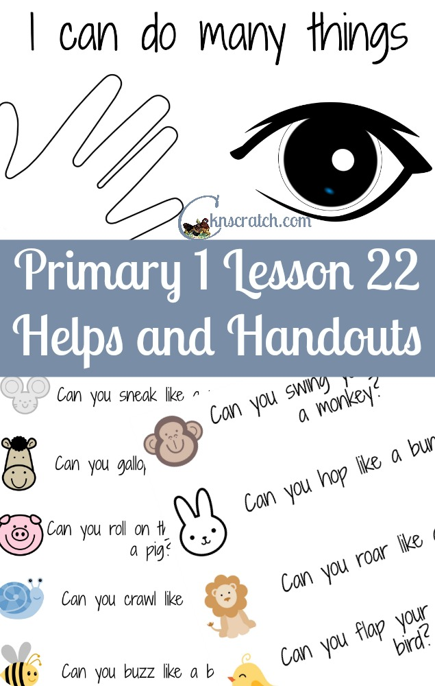 Love the the cute Can You questions to go with LDS Primary 1 Lesson 22: I Can Do Many Things