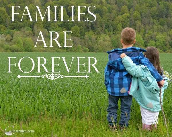 Families can be together forever- love this!
