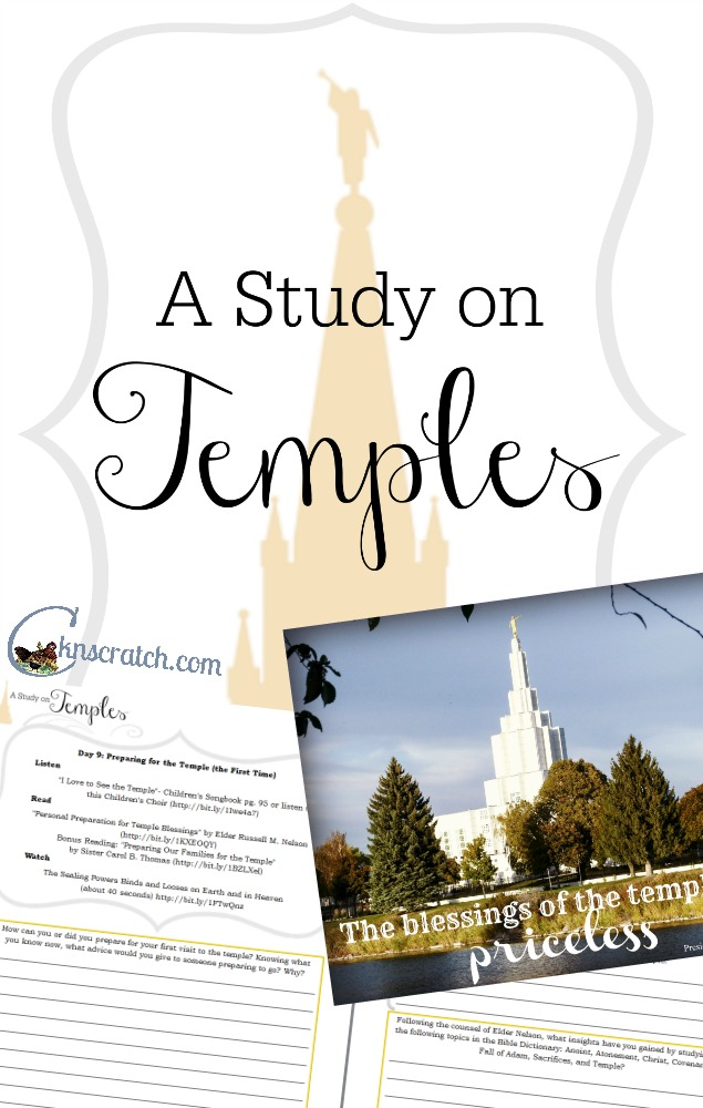 Such an enlightening study! I learned so much. LDS Temple Study Journal