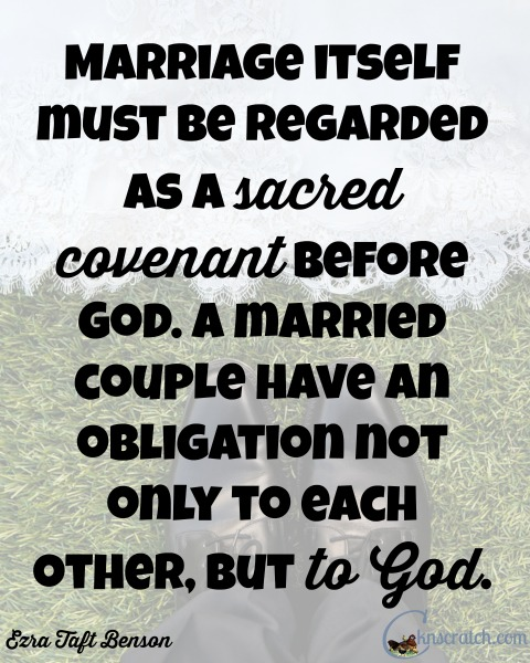 Love this marriage quote! Great LDS study guide for Ezra Taft Benson Chapter 14: Marriage and Family- Ordained of God