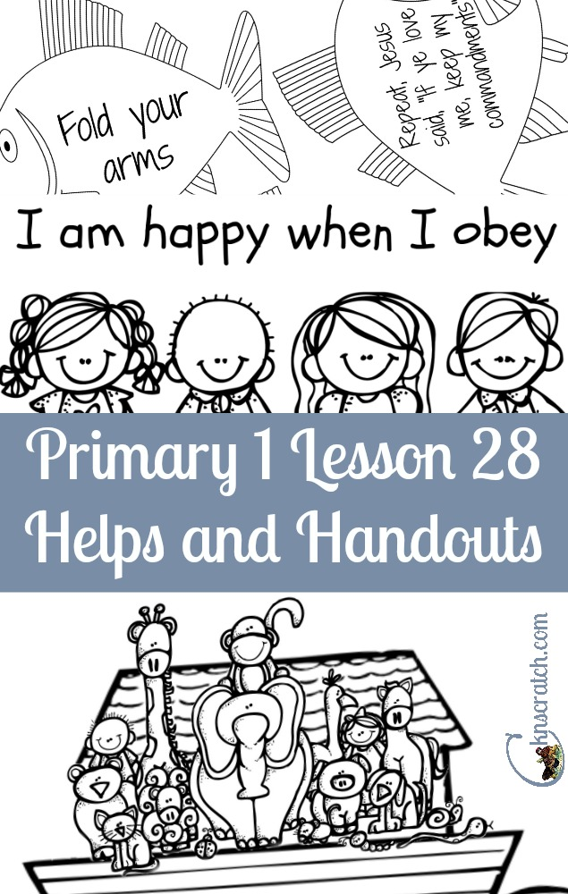 Great LDS Primary 1 Lesson 28 helps and handouts- nice to have the fish already done!