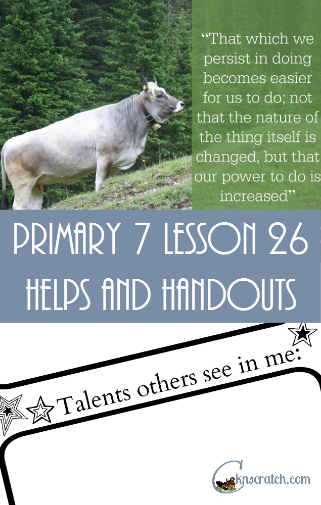 Love this site- such great LDS Lesson helps - Primary 7 Lesson 26