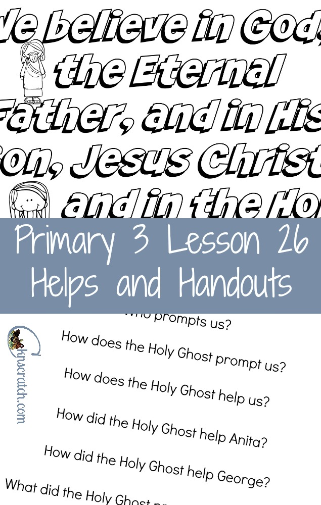 Love this site! LDS lesson helps and handouts- Primary 3 Lesson 26