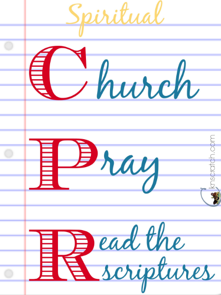 Love this idea! Spiritual CPR