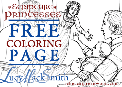 Free LDS Scripture Princess Coloring pages from Rebecca Greenwood- love these!