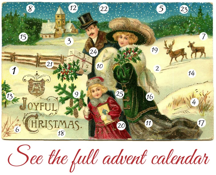 The first day of this awesome online Christmas advent calendar
