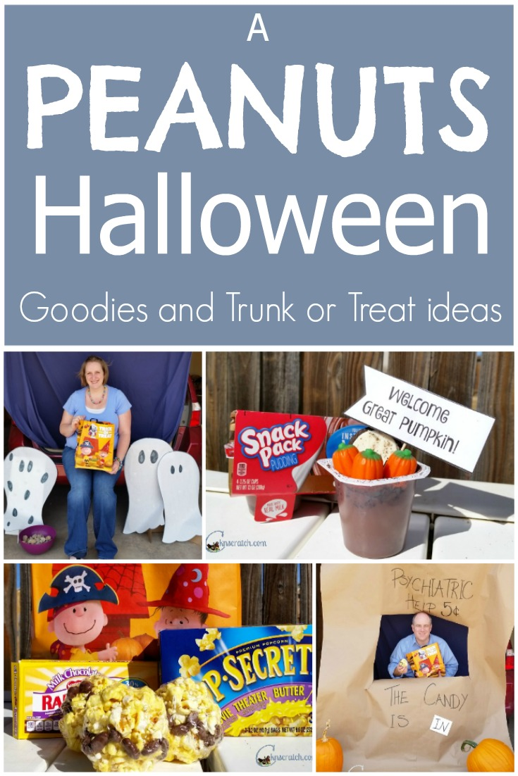 Oh I love Charlie Brown! Great ideas for the trunk or treat this year!