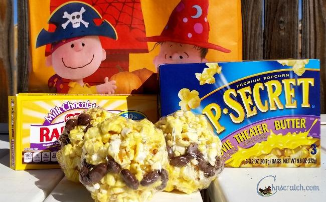 Fun idea for Halloween! Charlie Brown Popcorn balls!