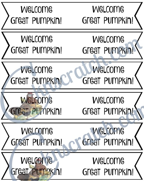 These Great Pumpkin toothpick signs are perfect to adding to a pudding pumpkin patch or cupcake!
