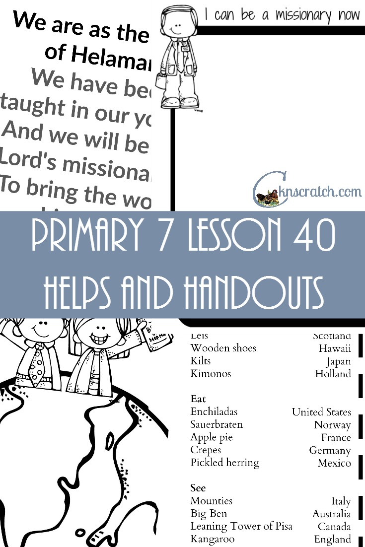 Awesome website! LDS lesson helps and handouts for Primary 7 Lesson 40: Peter and Cornelius