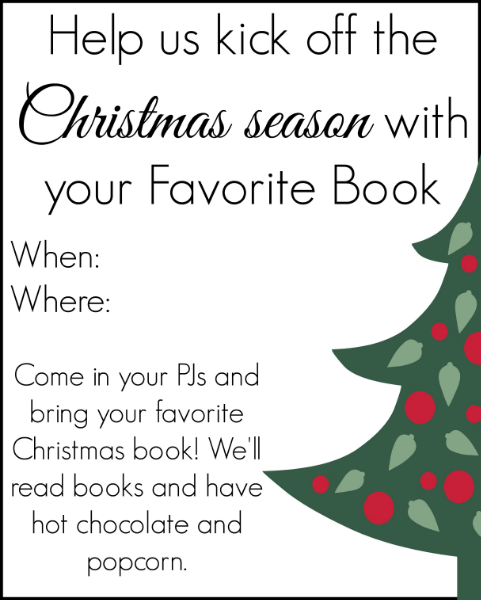A Christmas book party to share all your favorites with your friends-  great idea!