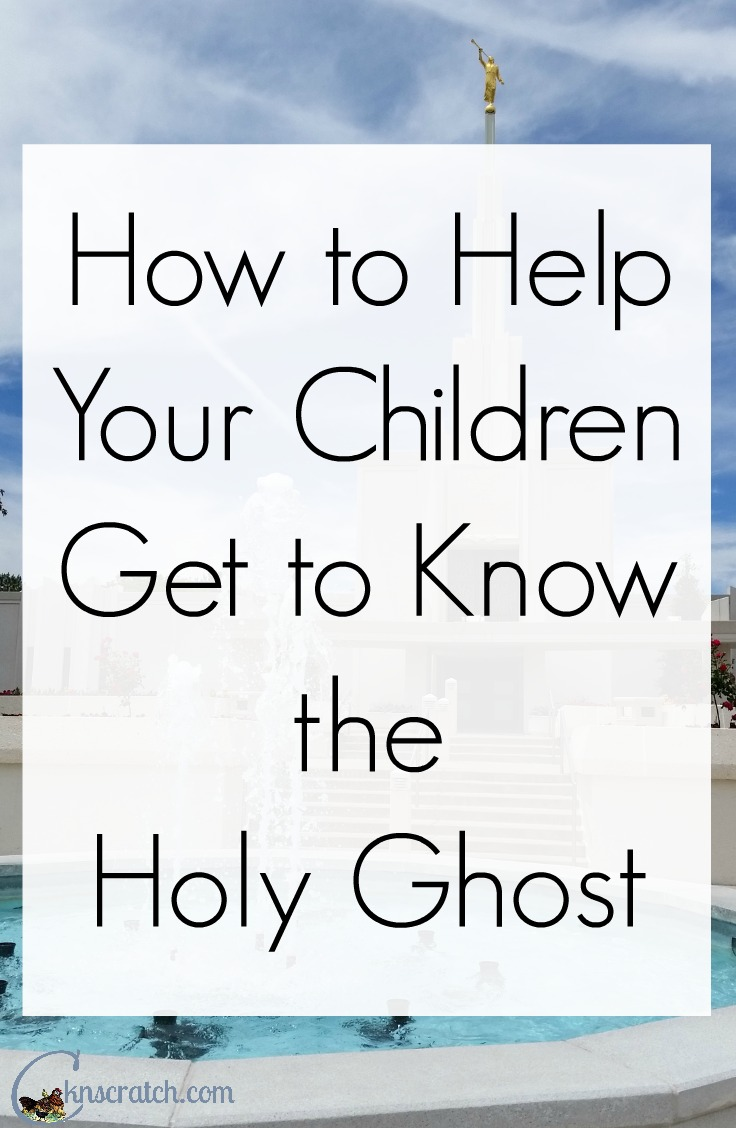 Excellent idea for helping children develop a relationship with the Holy Ghost!