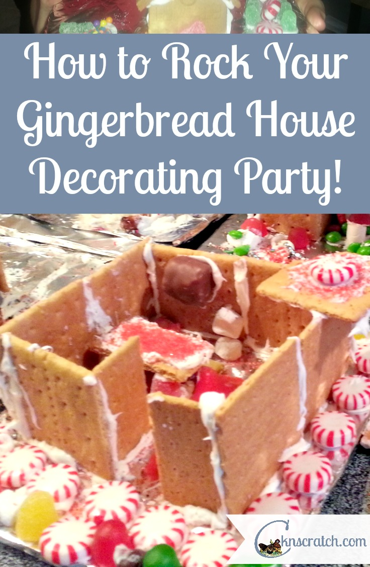 Love the simplicity of this one! Rock your next Gingerbread house decorating party