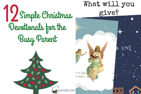 Love the simpleness of these Christmas devotionals- keep it super simple!