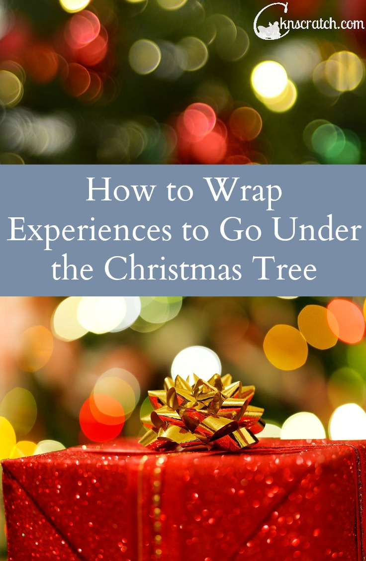 Great ideas on how to wrap experience gifts for Christmas