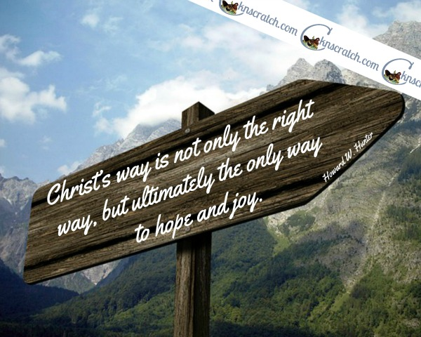 Love, love, love this site for helping me prepare my Howard W. Hunter lessons! Here's the study guide for Chapter 1: Jesus Christ- Our Only Way to Hope and Joy