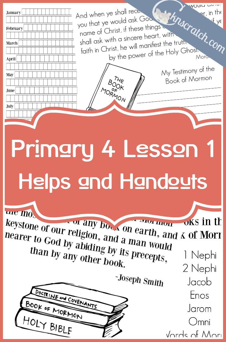 Love this! LDS lesson helps and handouts for Primary 4 Lesson 1: The Book of Mormon, a Gift from a Loving Heavenly Father