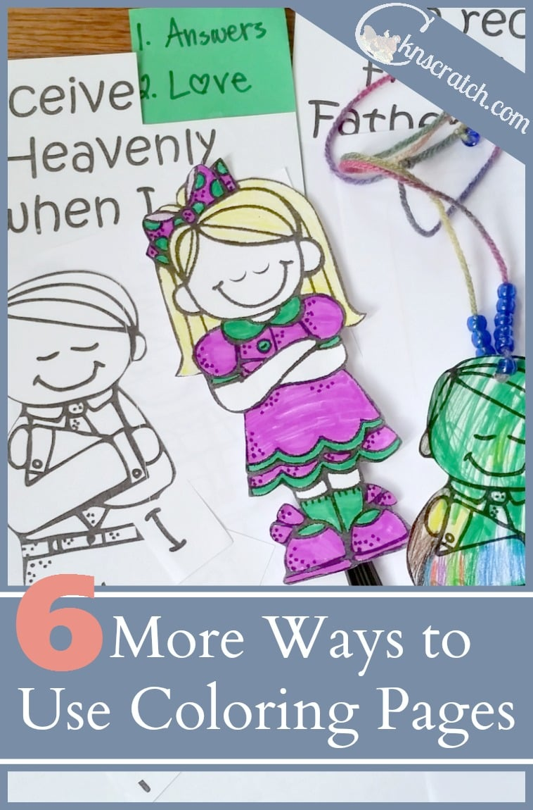 These are excellent ideas for young and older LDS Primary classes! 6 more ways to use LDS coloring pages