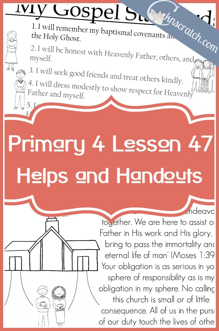 This LDS site is so helpful! LDS handouts and lesson helps for Primary 4 Lesson 47: The Priesthood can bless our lives