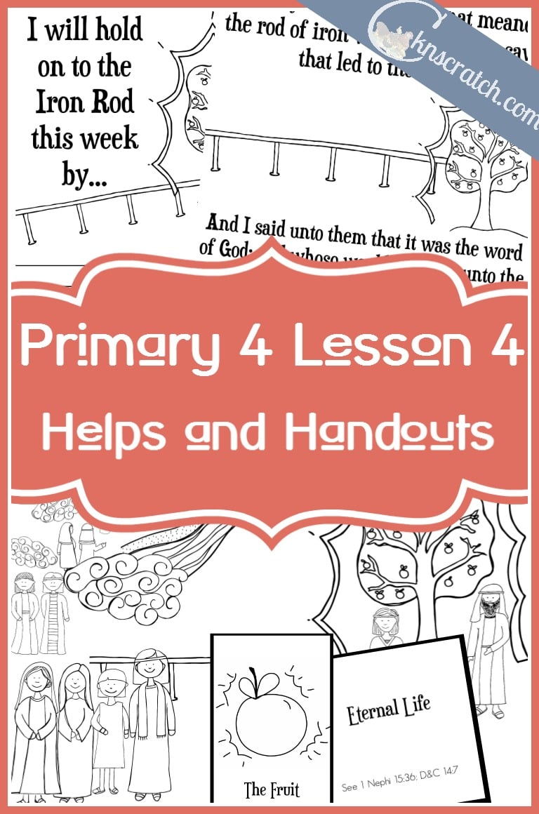 So glad I found this! Awesome LDS handouts to go with Primary 4 Lesson 4: The Tree of Life
