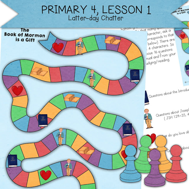 Love these LDS lesson helps and handouts for Primary 4