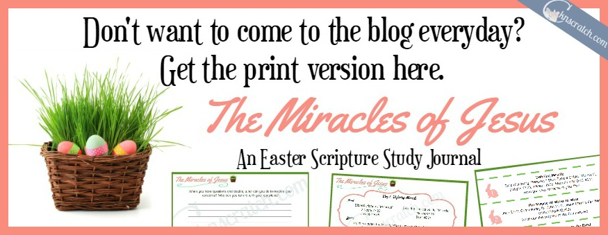 Miracles of Jesus Easter Scripture Study Journal