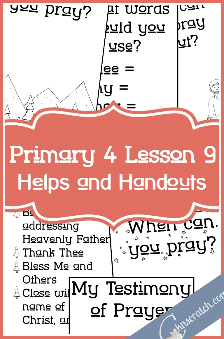 This is an excellent idea for teaching Primary 4 Lesson 9: Enos prays!