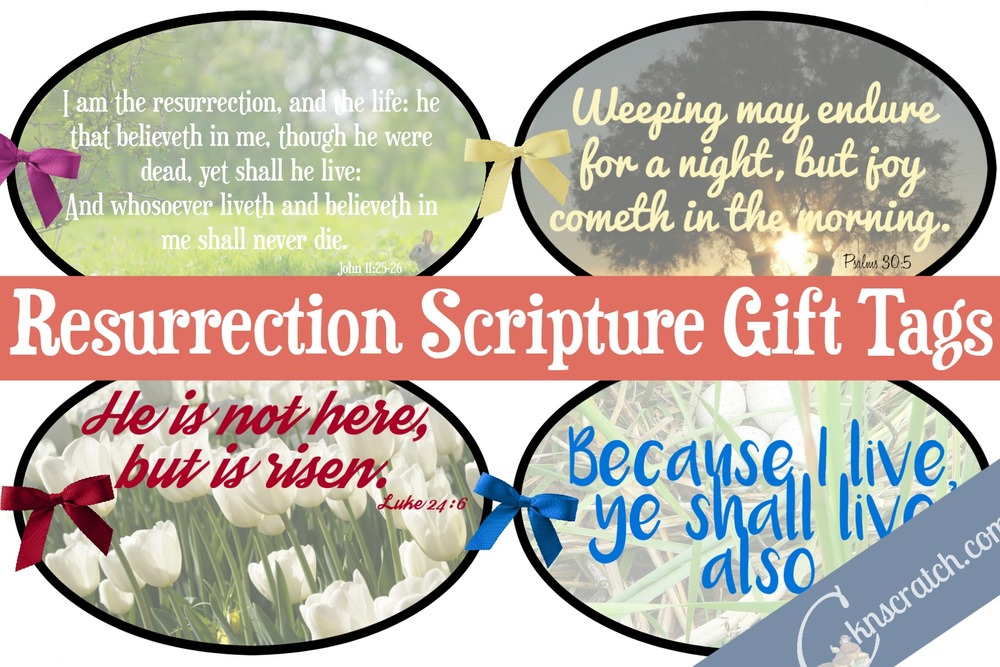 Great idea! Use these Resurrection scripture gift tags to teach Howard W. Hunter Chapter 6: The Atonement and Resurrection of Jesus Christ