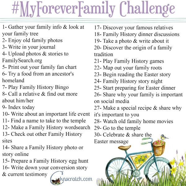 Strengthen your eternal family bonds one day at a time in the #MyForeverFamily challenge