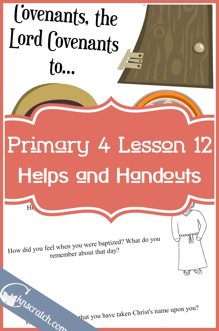 Great LDS lesson helps and handouts for Primary 4 Lesson 12: Alma baptizes at the Waters of Mormon