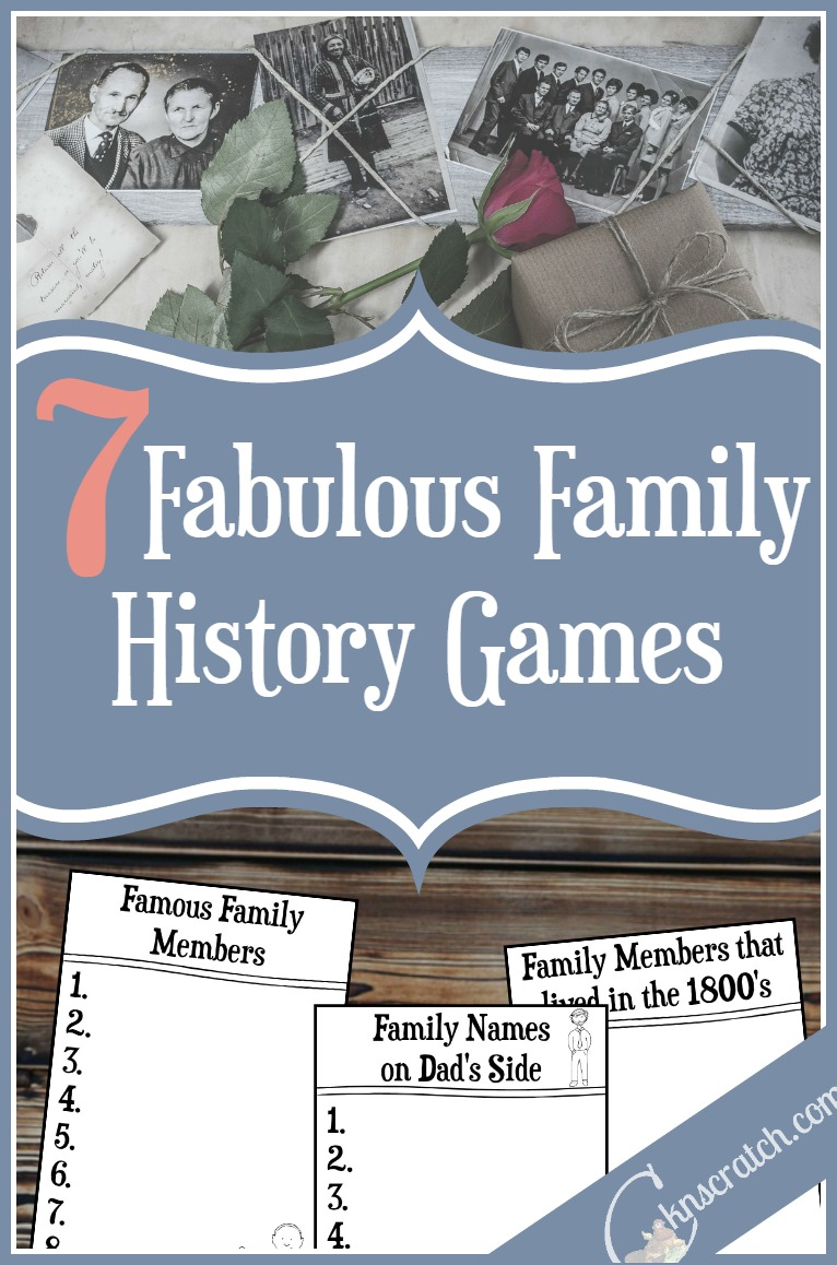 These are fun! Games to play relating to family history