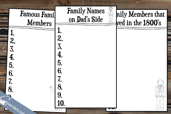 Fun family history games!