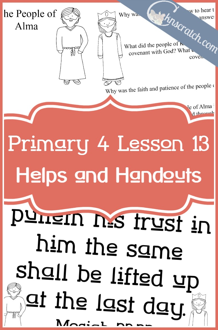 Loving this LDS site! Excellent resources to help you with LDS Primary 4 Lesson 13: The people of Limhi and the people of Alma