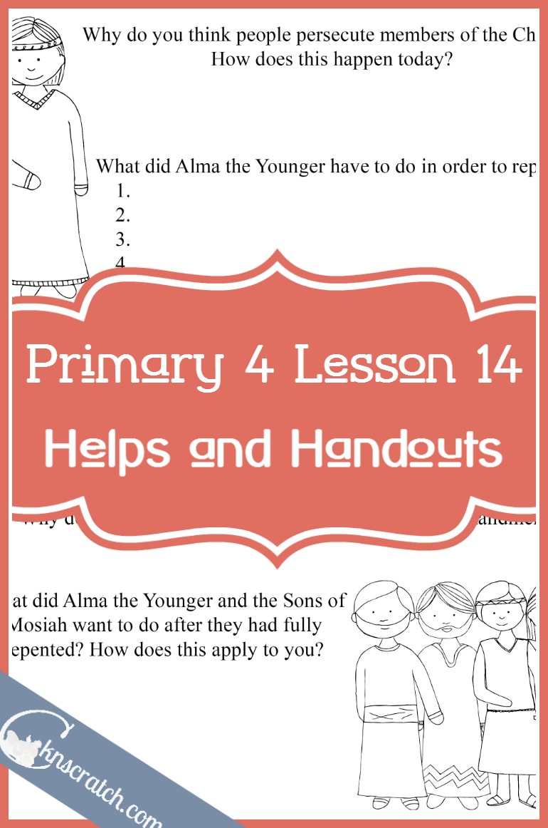 These are great! LDS lesson helps for Primary 4 Lesson 14: Alma the Younger and the Sons of Mosiah