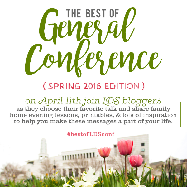 I LOVE this! Several Family Home Evenings based on LDS General Conference talks!! (April 2016)