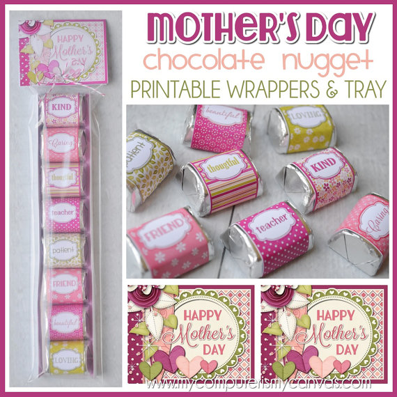 Fun wrappers for Mother's Day!